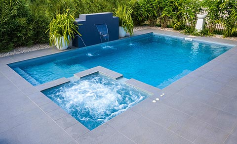 Leisure Pools Absolute fibreglass swimming pool design