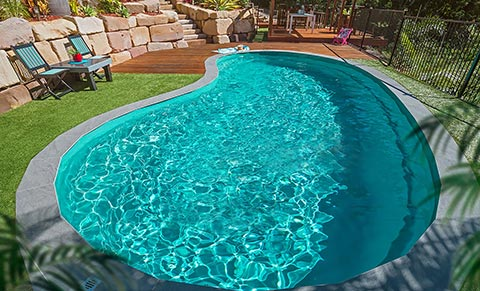 Leisure Pools Tuscany fibreglass swimming pool design