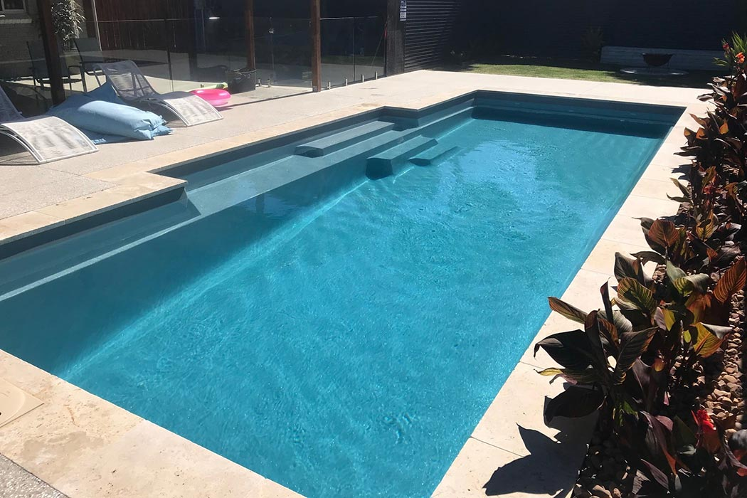 rectangle fibreglass swimming pool in Adelaide - The Elegance