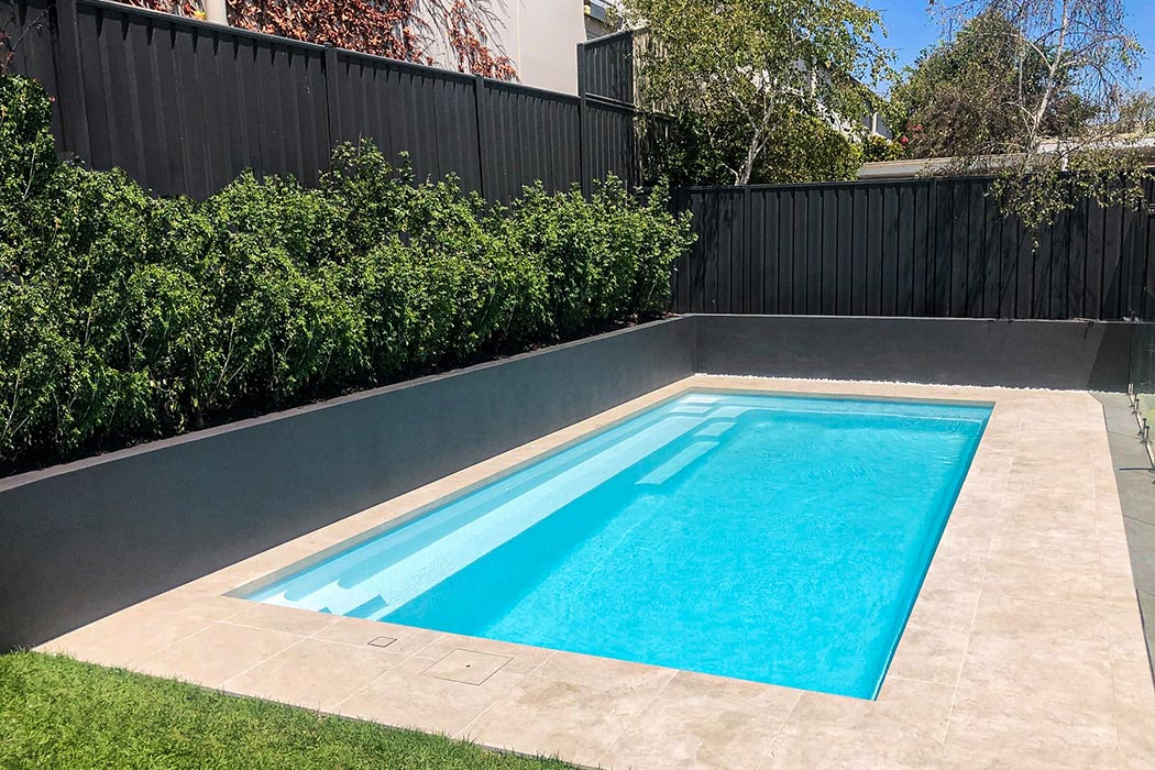 rectangle fibreglass swimming pool in Adelaide - The Reflection